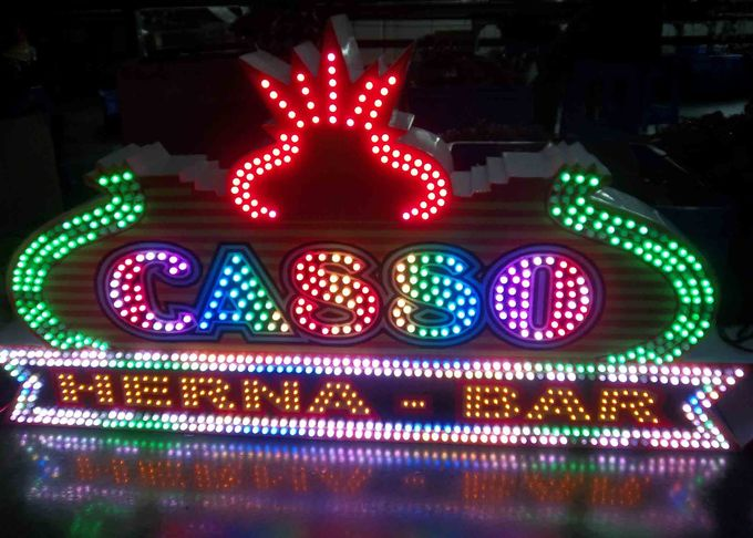 Super Colorful Effect Front Sign Letters For Amusement Park , Club , Bar